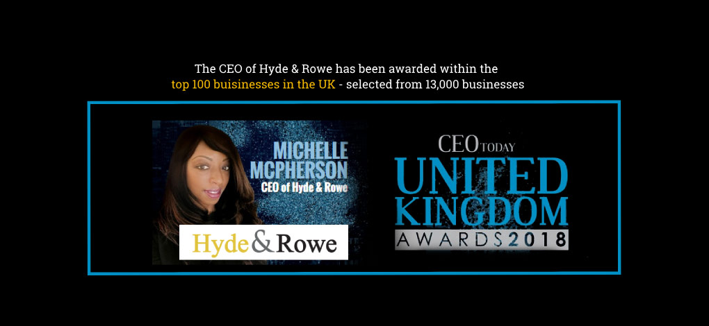 Michelle Mcpherson - COE Today United Kingdom Awards 2018